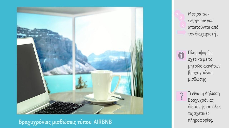 Βραχυχρόνιες Μισθώσεις Τύπου AIRBNB